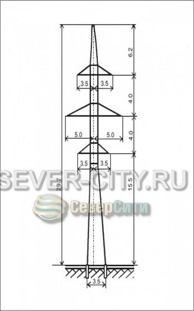 Опора УС110-6 анкерно-угловая