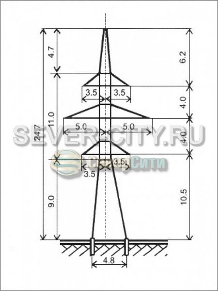 Опора У110-2П чертеж
